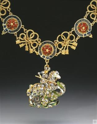 The Collar of the Order of the Garter and the Great George of the Order of the Garter