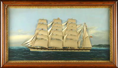 Oil & silk collage - 'The Ship Loch Carron of Glasgow'