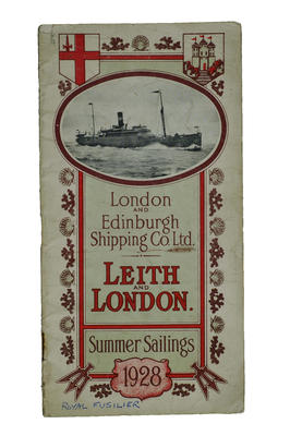 Booklet- London and Edinburgh Shipping Company Summer Sailings, 1928