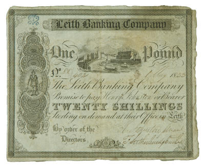 Bank notes - Leith Banking Company