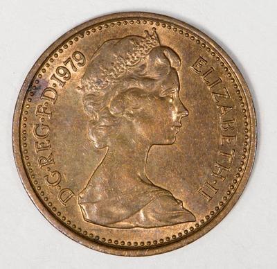 Elizabeth II halfpenny