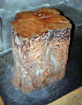 Tree stump from Loch Leven Castle