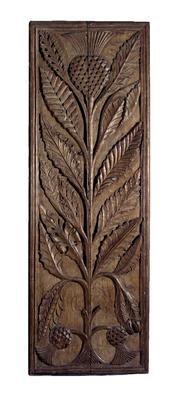 Carved oak panel